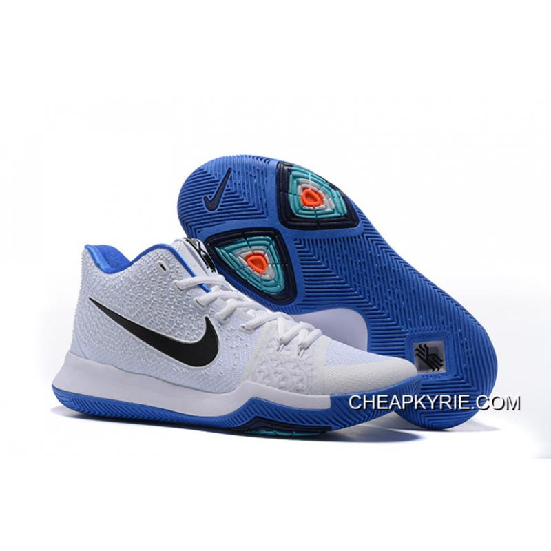 "Nike Kyrie 3 ""Duke"" White Blue Black Free Shipping ..."
