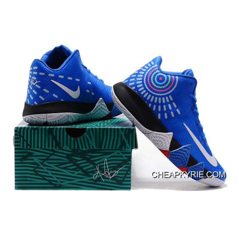 Nike Kyrie 4 Mens Basketball Shoes Royal Blue New Release