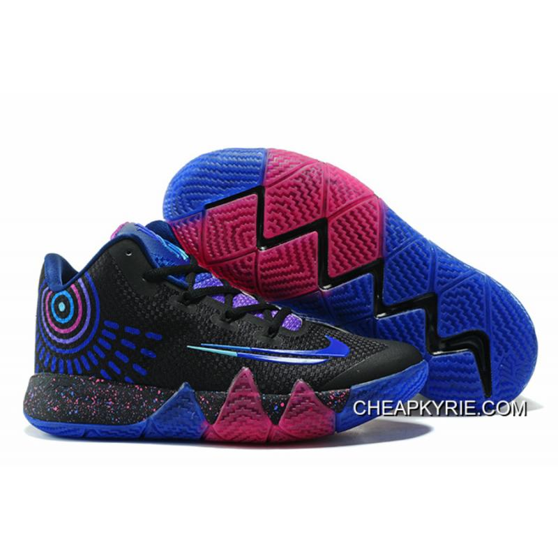 "58852067ba57 New Release Nike Kyrie 4 ""Flip The Switch"" Black Photo Blue Free Shipping  ..."
