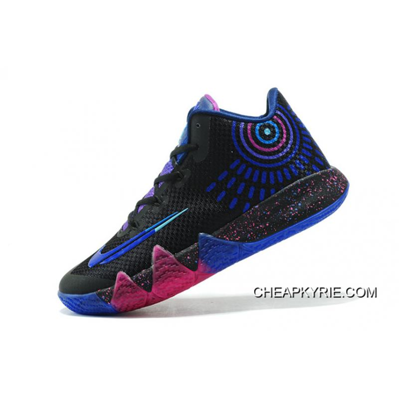 """New Release Nike Kyrie 4 """"Flip The Switch"""" Black/Photo Blue Free Shipping"""