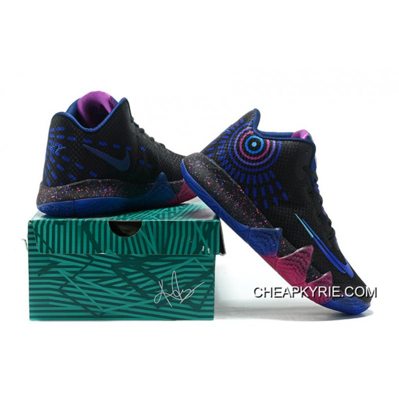 "66be8e73584a ... New Release Nike Kyrie 4 ""Flip The Switch"" Black Photo Blue Free  Shipping"