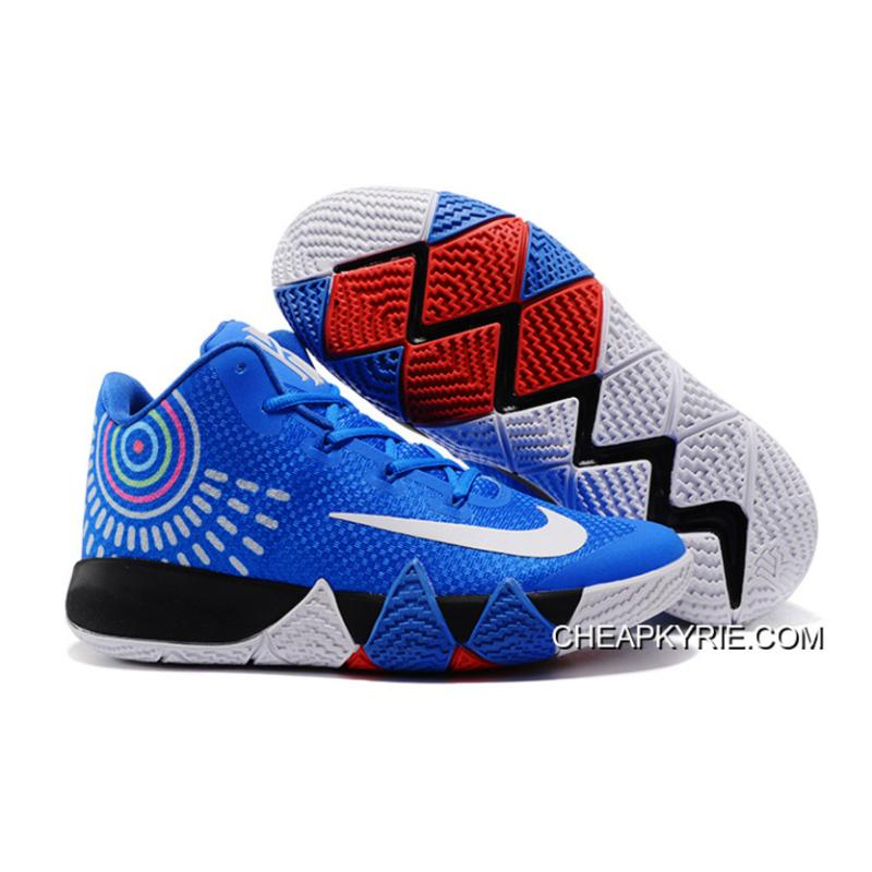 2017 Nike Kyrie 4 Royal BlueWhite Sneakers Top Deals