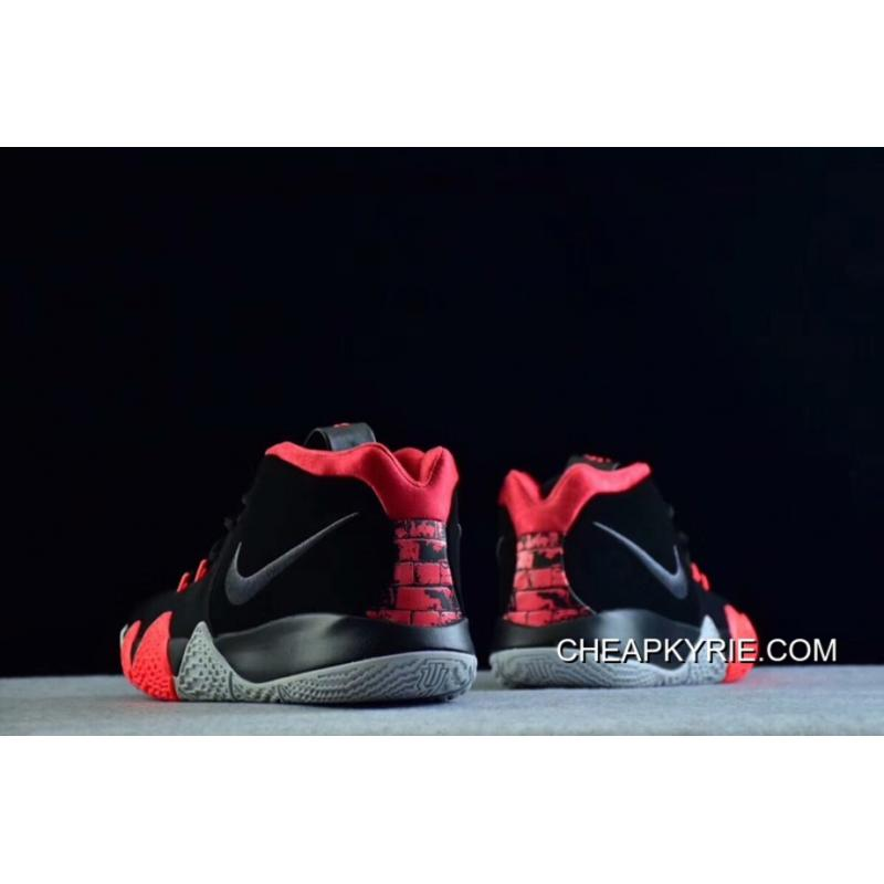 super popular e587e 861e1 Nike Kyrie 4 Black-Solar Red Free Shipping