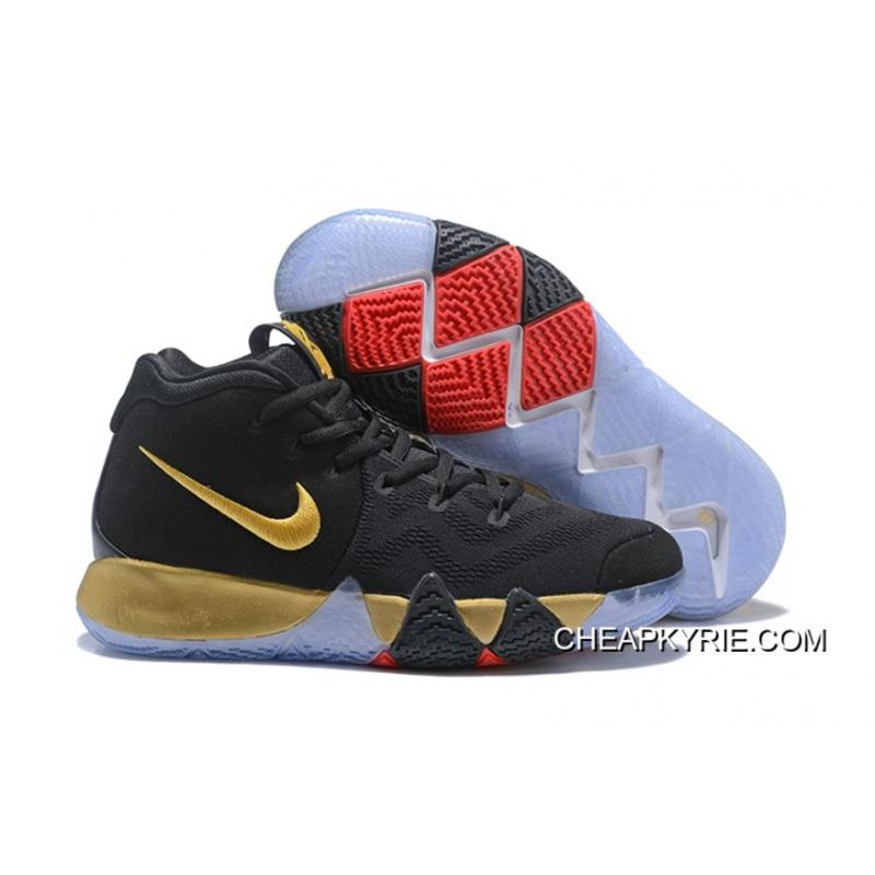 brand new 187f9 e4c18 Copuon Nike Kyrie 4 Black Gold Red