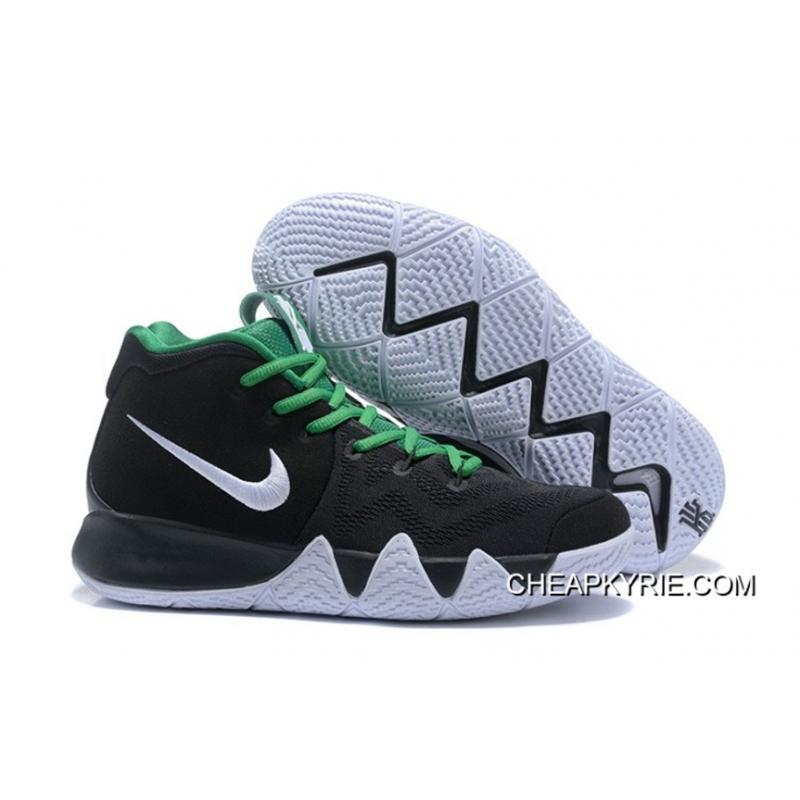 eba9eb5ac3b0 New Year Deals Nike Kyrie 4 Black White Green ...