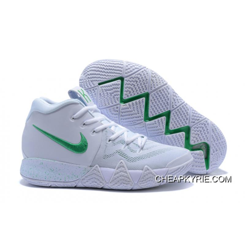 official photos b772d 51eef Nike Kyrie 4 White/Green Latest