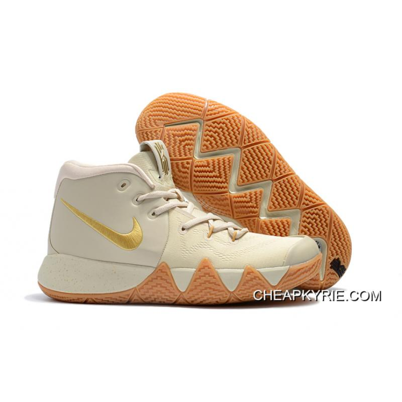 2018 Nike Kyrie 4 Gray RiceGold Top Deals