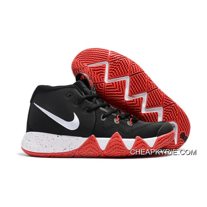 Nike Kyrie 4 BlackRedWhite Top Deals