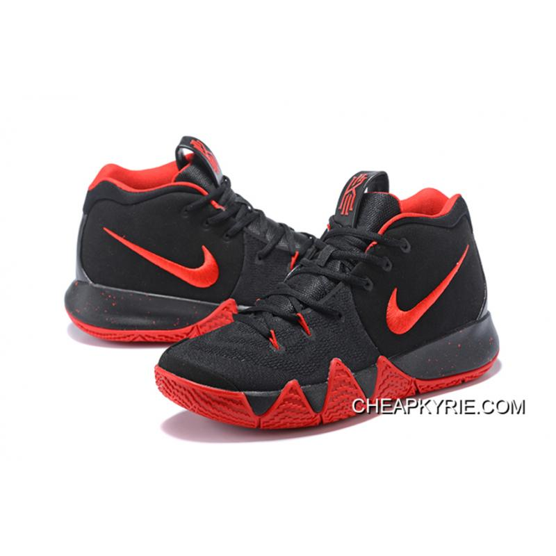 best sneakers 38dac a8533 Nike Kyrie 4 Black Red For Sale