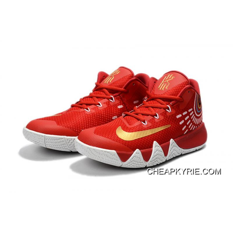 hot sale online f76a8 efd66 ... Nike Kyrie 4 Red White Gold Outlet ...