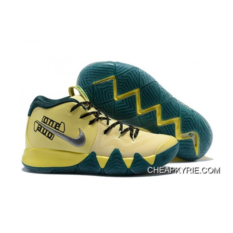Nike Kyrie 4 Magic PE Yellow Grey Free Shipping