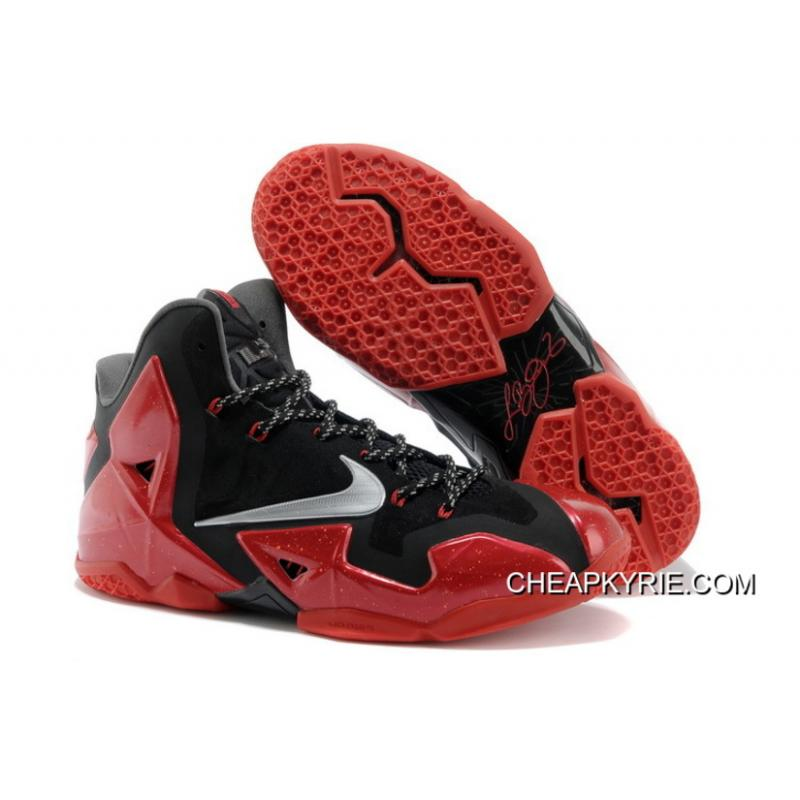 Nike LeBron 11 \u201cAway\u201d Black/Metallic Silver-University Red-Bright Crimson  ...