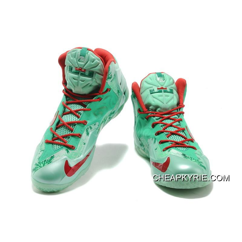 "finest selection 0a823 d974b ... Nike LeBron 11 ""Christmas"" Green Glow Light Crimson-Arctic Green  Authentic ..."