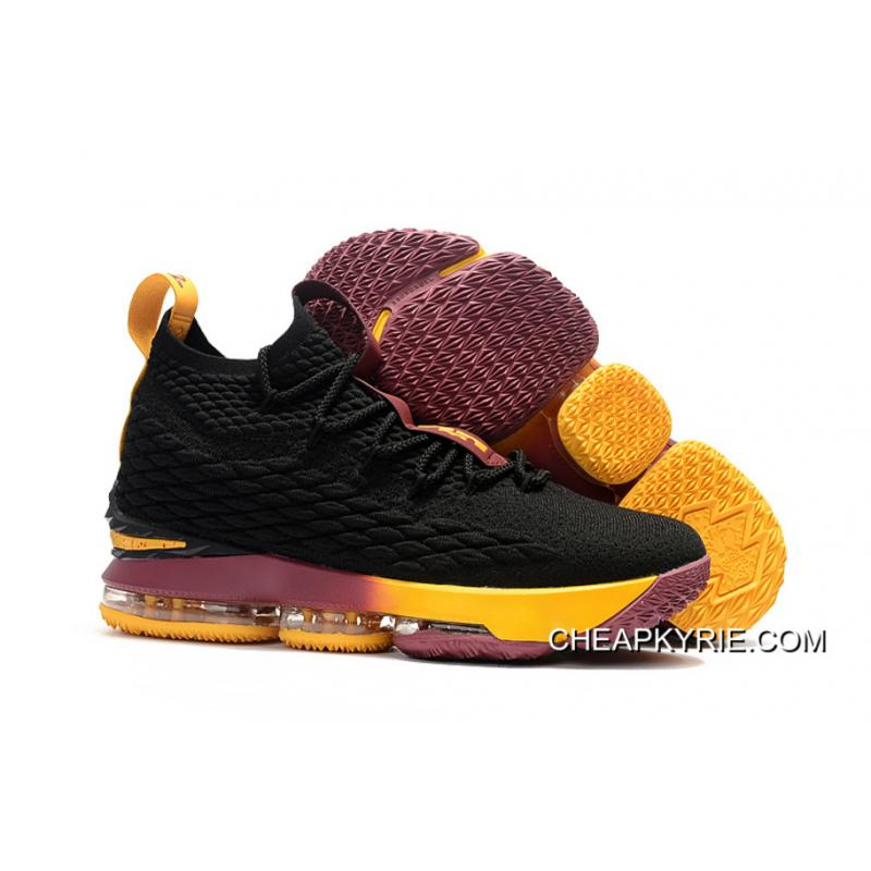 Nike LeBron 15 Cavs Black YellowWine Copuon