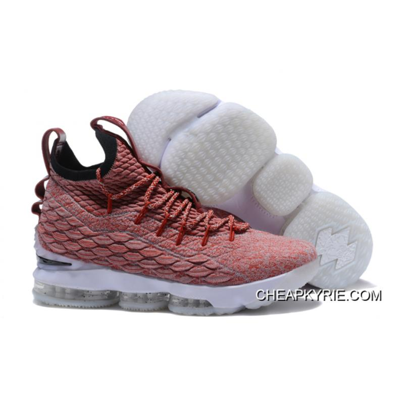 pretty nice ba94e 469ab ... nike lebron 15 red flyknit white basketball shoes new style
