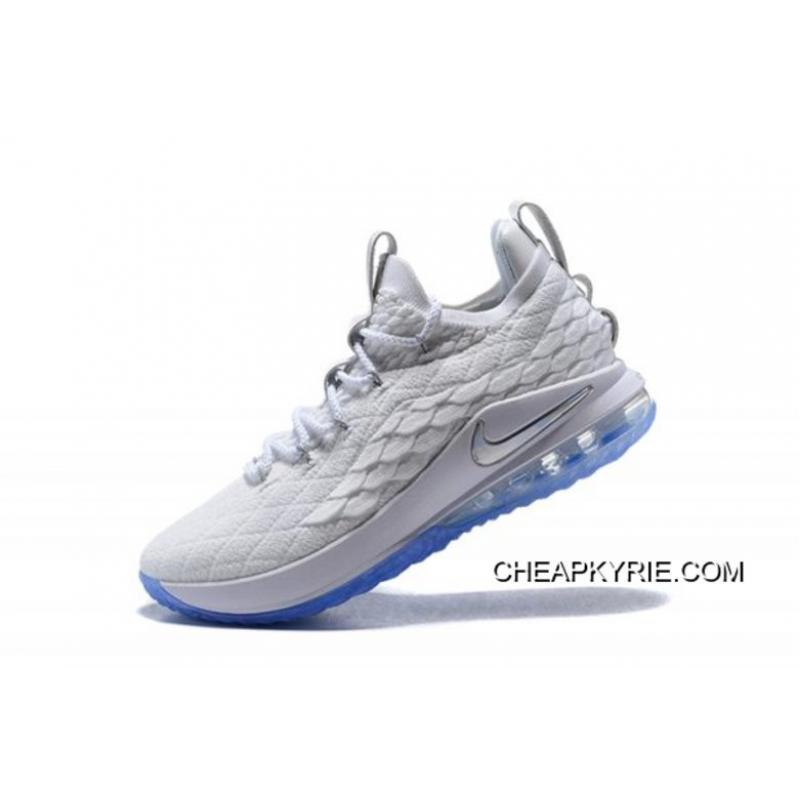"the latest 48473 04010 New Year Deals Nike LeBron 15 Low ""White Ice"" Men's Basketball Shoes"