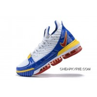 "Outlet Nike LeBron 16 SB ""SuperBron"" White/Varsity Red-Varsity Royal CD2451-100"