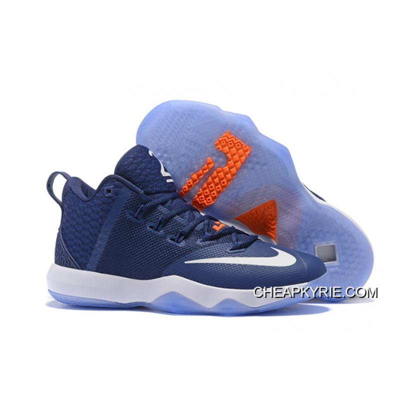 uk availability a8e98 18580 Nike LeBron Ambassador 9 Navy Blue White Orange New Release ...