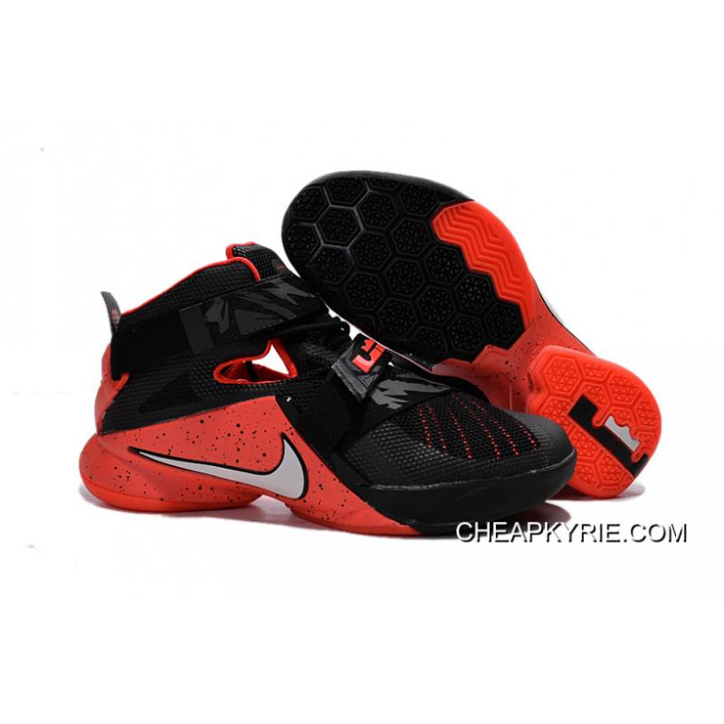 da7402881857 Nike LeBron Soldier 9 Black Red Basketball Shoe Cheap To Buy ...