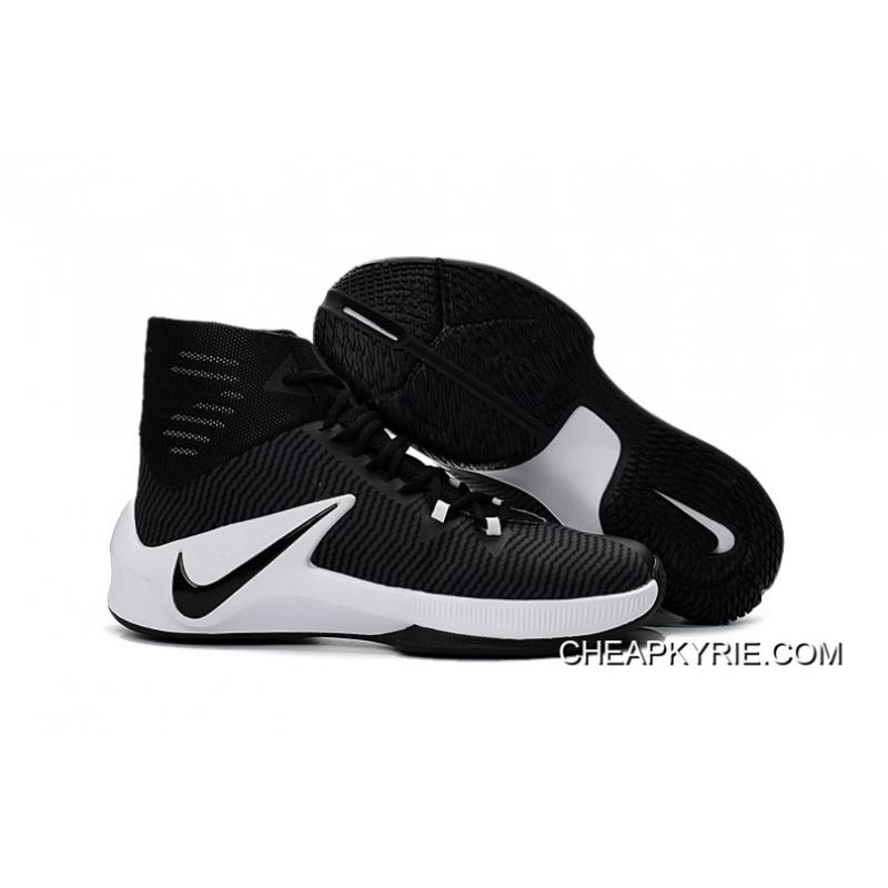 Nike Zoom Clear Out Black White Basketball Shoes Super Deals