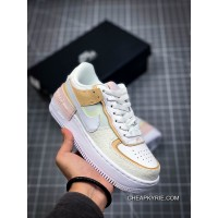 Free Shipping Women Are Less Deconstruction Design Nike WMNS Air Force 1 Shadow Match One Lightweight Height-happens Low All-match Sneakers SKU:289196-921