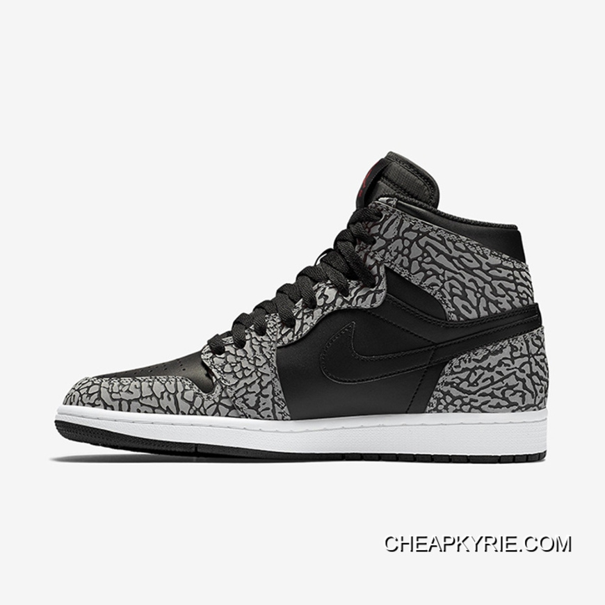 "486793f1c00 Air Jordan 1 High ""Un-Supreme"" Black/Cement-White-Varsity Red New ..."