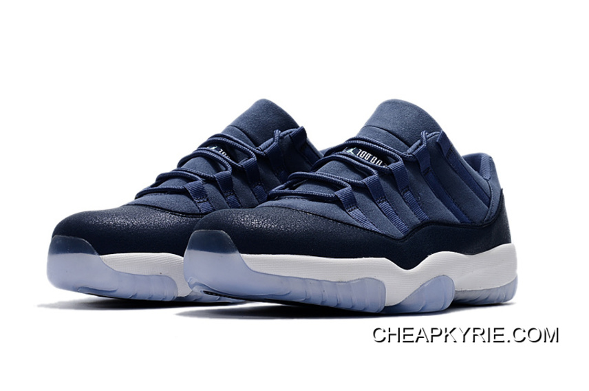 78da45a3447f28 Air Jordan 11 Low Blue Moon Sunset Blue-Binary Blue-White Men Sneakers