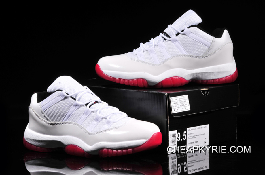Air Jordan 11 Retro Low WhiteBlackVarsity Red Top Deals