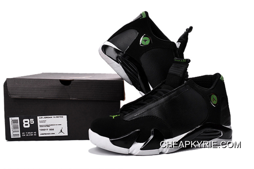 "hot sale online 4f246 5e665 Air Jordan 14 ""Indiglo"" Black/White Shoes Top Deals"