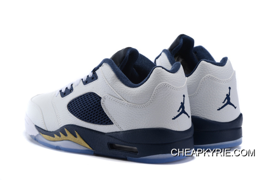 "sports shoes 48376 81f62 Air Jordan 5 Low ""Dunk From Above"" White/Metallic Gold Star-Midnight Navy  Lastest"