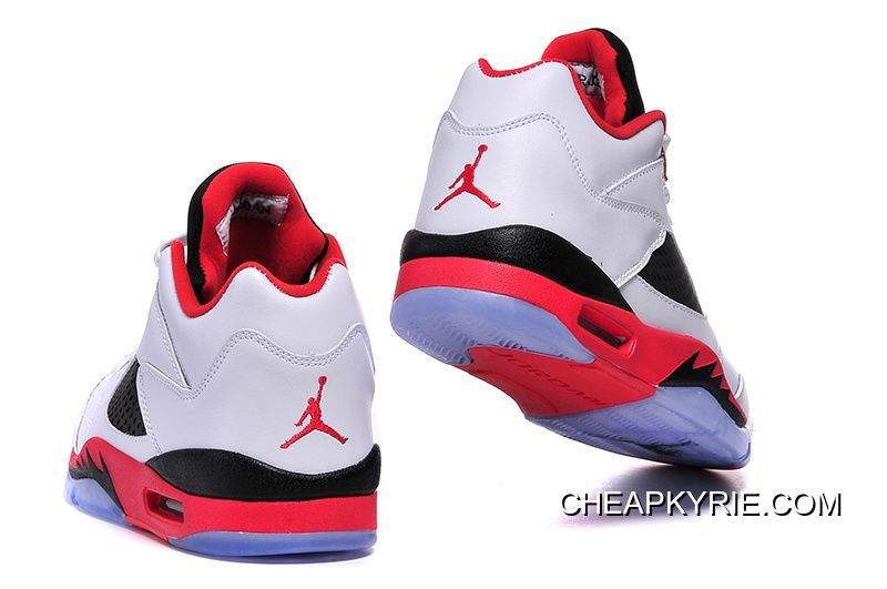 """official photos 97aeb 88c95 Air Jordan 5 Low """"Fire Red"""" White/Fire Red-Black For Sale"""