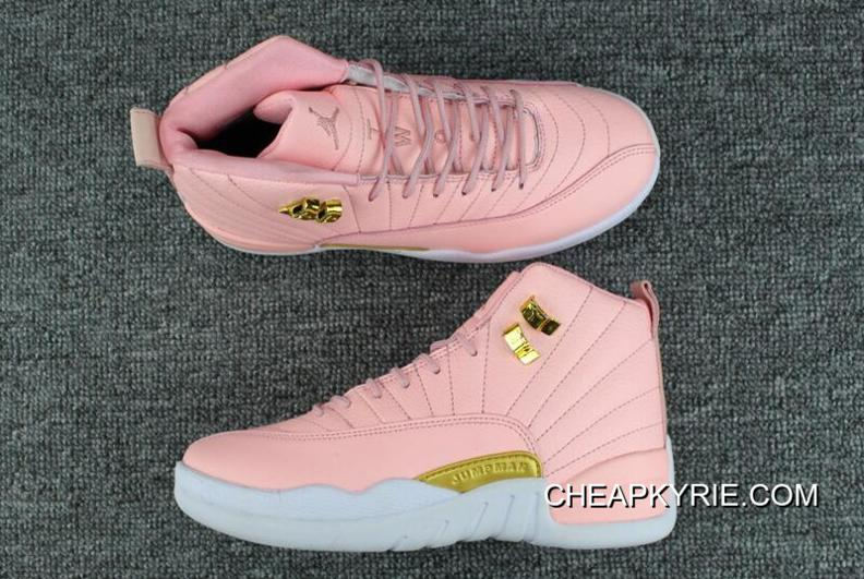 "online store 9663f f7719 Girls Air Jordan 12 GS ""Pink Lemonade"" Pink/White-Gold Hot Sale New Release"