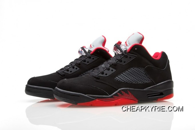 "buy popular 5d9c8 b9626 Air Jordan 5 Low ""Alternate  90"" Black Gym Red-Metallic Hematite"