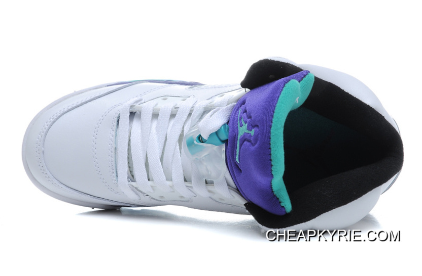 459ae2e6950 Air Jordan 5 Retro White/ Emerald-Grape-Ice Blue New Style, Price ...