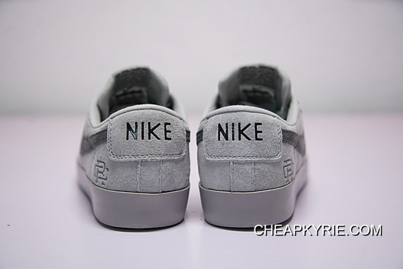 Hot Sale Colorways In Vancouver Canada Brand To Be Reigning Champ X Nike Sb Blazer Low Gt Classic Sneakers Dark Grey 704939 188 2018 Best