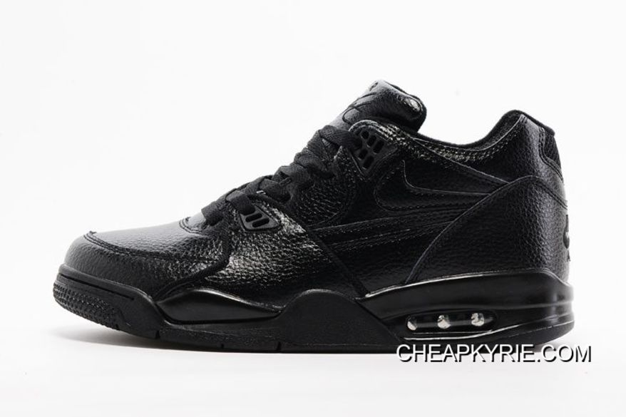 new product 08e70 d6078 Nike Air Flight  89 All Black Leather Basketball Shoes For Sale