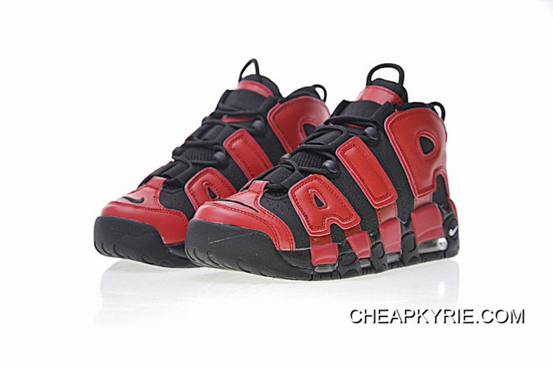 Nike Air More Uptempo QS Black Red 819151-001 Authentic