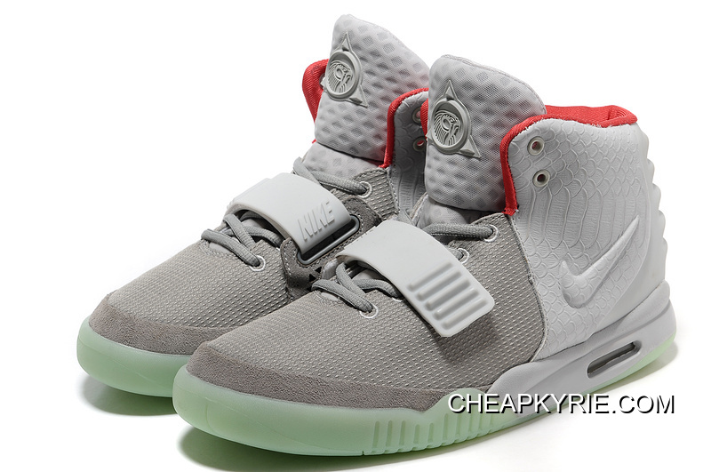 c54417e81 Nike Air Yeezy 2 Wolf Grey Pure Platinum Glow In The Dark Discount ...
