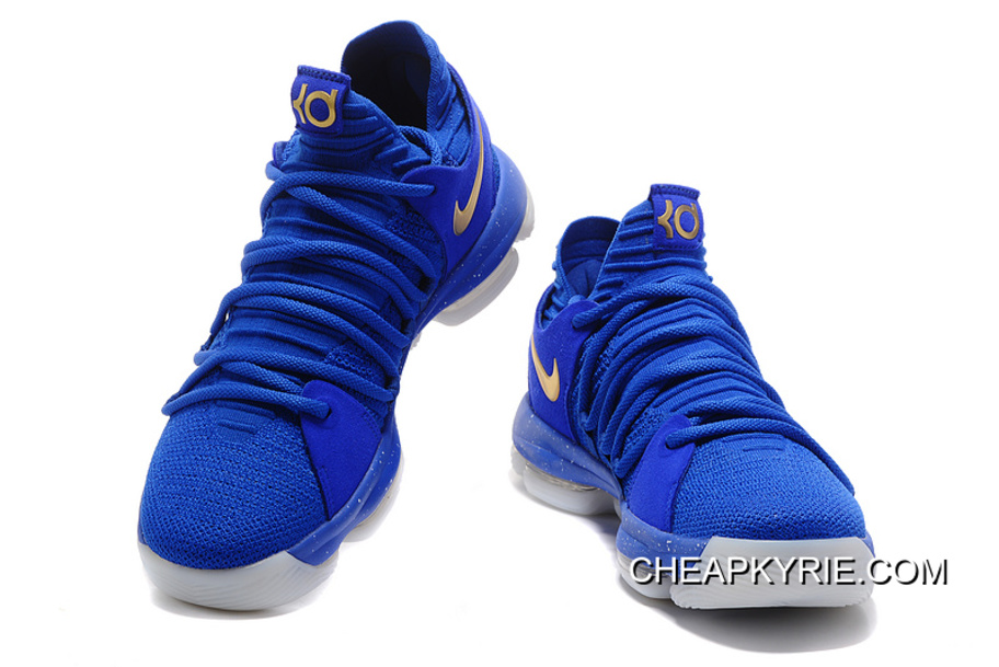 sports shoes 9c57c ec1d8 Nike KD 10 Finals PE Blue Gold Discount