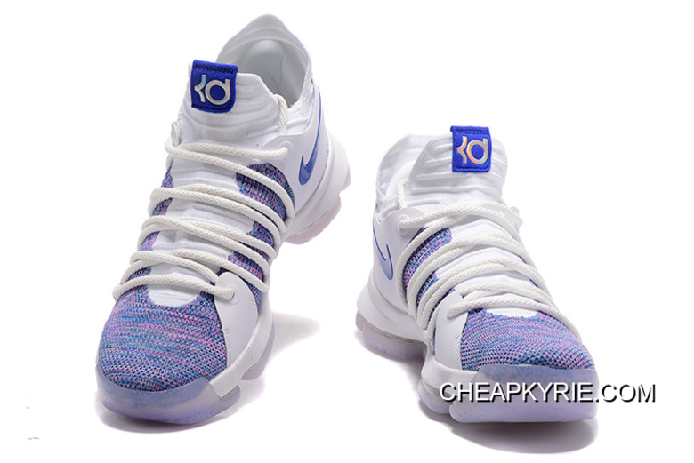 new concept f0f98 0ecf9 Online Nike KD 10 White Blue