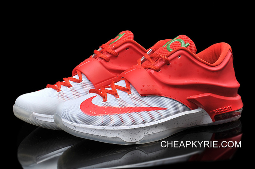 """online retailer 7d7c8 2687c Nike Kevin Durant KD 7 VII """"Christmas Egg Nog"""" White/Red Online Cheap To Buy"""