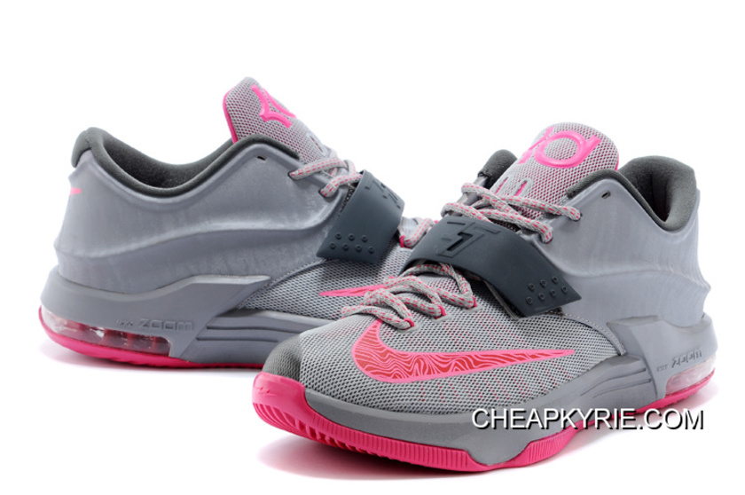 Nike Kevin Durant KD 7 VII Calm Before The Storm GreyHyper PunchLight Magnet Grey Authentic