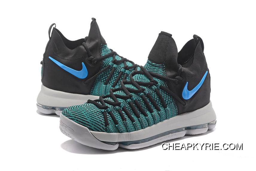 sneakers for cheap a552d 577b4 Nike Zoom KD 9 Elite Black Clear Jade Free Shipping