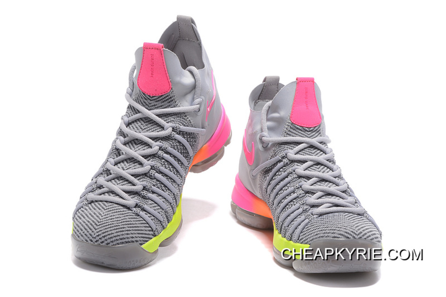 the latest 6b09c 845cc Nike Zoom KD 9 Elite Grey Pink-Orange-Volt Top Deals
