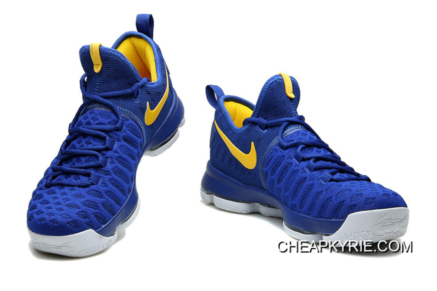 """separation shoes 64efe dbebd Nike KD 9 """"Golden State Warriors"""" Blue Yellow White Authentic"""