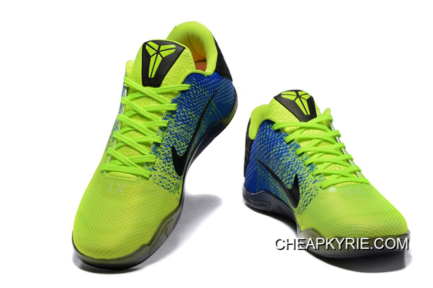 8d9d0e55f64b Nike Kobe 11 Volt Blue Black Basketball Shoes Discount