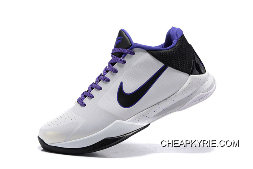 low priced 5273f 50855 Nike Zoom Kobe 5 White/Black/Purple Super Deals