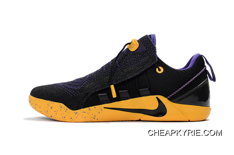 low priced d490e d7829 Nike Kobe A.D. NXT Black Purple Yellow For Sale