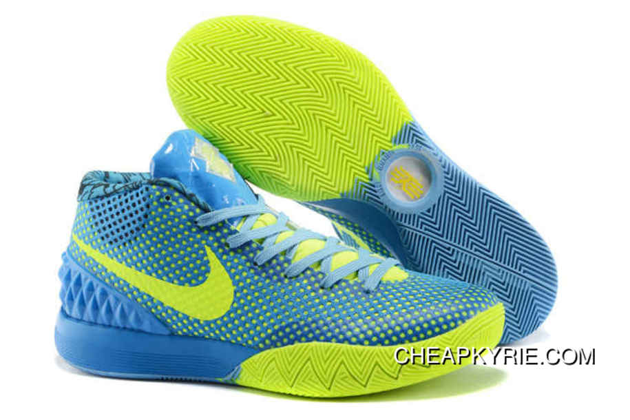 new concept 1c119 f3ec3 Nike Kyrie 1 Basketball Shoes Sky Blue Volt New Release