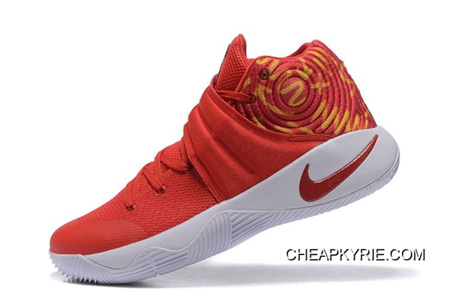 the latest 6f209 fc2d3 Nike Kyrie 2 Red White Basketball Shoes Super Deals